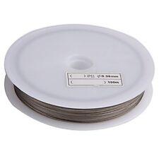 2x(Rolle Schmuckdraht Draht Metall 71 Meter silber Farbe L7D2