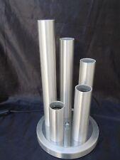 Lampadaire moderniste 5 feux aluminium brossé dlg Gaetano Sciolari lampe 1970