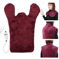 Electric Neck Body Massager shawl Shoulder Knees Warm Heating Pad Hot Compress