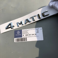 Matte 4 MATIC Letters Trunk Emblem Badge Sticker for Mercedes Benz 4MATIC