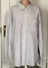Tommy Hilfiger Shirt Mens Size XXL 2XL Long Sleeve Check Slim Fit