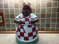 Casa Vero by ACK Cookie Jar Aunt Jamima Vintage Antique Red Green