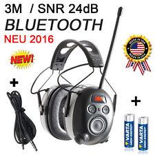 3M PELTOR 24dB BLUETOOTH Digital Radio Gehörschutz Kopfhörer, neu 2016 !