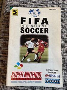 SNES FIFA International Soccer Instruction Booklet - Super Nintendo!