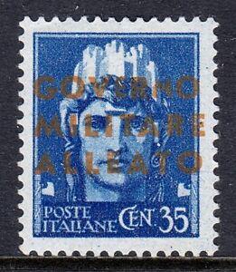 ITALY — SCOTT 1N11a — 1943 AMG 35c VERMILION OVPT. — MH — SCV $35