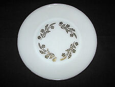 Set of 2 Vintage Federal Glass Milk Glass Meadow Gold Dinner Plates