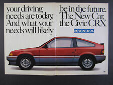 1984 Honda Civic CRX red car color photo vintage print Ad