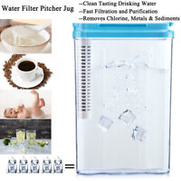 Water Pitcher Filter Jug Filter Water Filtration System Removes 230+Contaminants