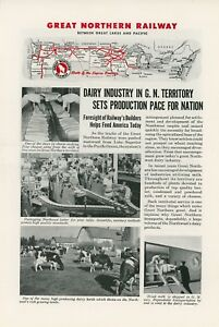 1944 Great Northern Railway Ad Moving Dairy Products Butter Cheese Northwest