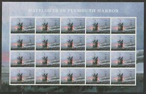U.S. Stamps Sheet Pane of 20 Mayflower Ship in Harbor Scott # 5524