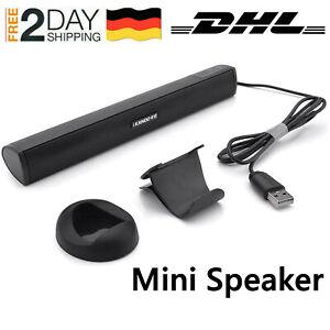 Lautsprecher Mini tragbarer Lautsprecher Klinke USB für Laptop PC Notebook DHL