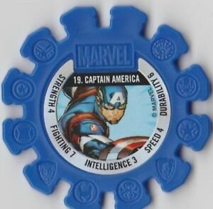 Brand new Woolworths Marvel Super Heroes Disc NO 19 CAPTAIN AMERICA