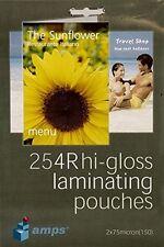"Amps a6 HI-GLOSS laminazione Laminatore SACCHE 4r 6""x4"" 100 pacco 150 Micron"