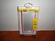 Griffin Clear Rugged Phone Case for Iphone 7 6 6S Pink Brand New