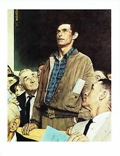 "NORMAN ROCKWELL ""FREEDOM OF SPEECH"" Town hall Mtg Color 11.5""x 15"" Poster Print"