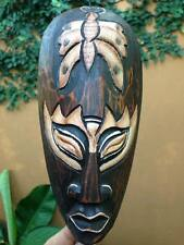 Mask Indonesia Art Tribal Butterfly Wood Hand Paint Decor African Hang Wall Hook