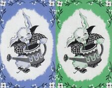 VINTAGE SWAP PLAYING CARDS - 2 SINGLE - RABBITS - #18