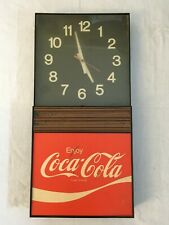 Vintage Enjoy Coca-Cola Plastic Battery Wall Clock Display WORKING