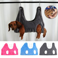 Dog/Cat Hammock Helper Grooming Holder Restraint Bag Harness Bath Wash Nail Clip