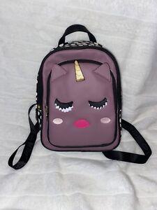 Luv Betsey Johnson Polka Dot Purple Unicorn Small Backpack