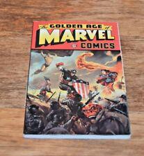 THE GOLDEN AGE OF MARVEL COMICS Captain America Sub-Mariner Human Torch 1997 VGC