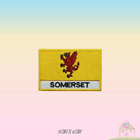 SOMERSET UK County Flag With Name Embroidered Iron On Patch Sew On Badge