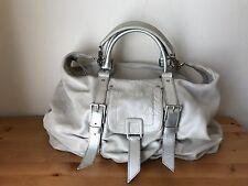 BOTKIER Metallic Cream leather Satchel shoulder bag