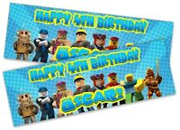x2 Personalised Birthday Banner Roblox Children Kids Party Decoration Poster 7
