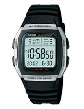 Casio Men's Digital Watch With Resin Strap W-96h-1aves 10yr Battery