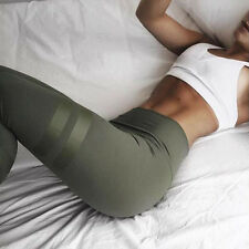 Women High Waist Fitness Leggings Running Gym Stretch Sports Pants Trousers UK