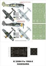 Montex 1/32 canopy masks & markings FW 190F-8 for Hasegawa k32084