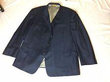 $1395 Hickey Freeman Beacon Bespoke Navy Windowpane Suit Jacket Blazer 49R (50R)