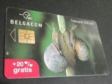 BELGIO (BELGIUM) - BELGACOM (CHIP) - ST. VALENTINE DAY: MOLLUSCS/SNAILS, used !