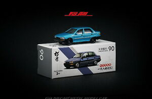 ToYi 1/64 DAIHATSU CHARADE 90 Blue Diecast car Model Collection Toy Gift