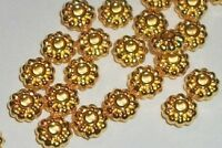 Spacer beads, gold finish pewter 6x3mm rondelle beads 100 pc (8832)