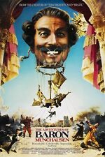 terry gilliam's THE ADVENTURES OF BARON MUNCHAUSEN 1988 movie poster 24X36