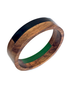 Chunky Wooden Dual Colour Bangle / Handmade Wooden Jewellery / Wooden Bangle