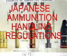 JAPANESE AMMUNITION HANDLING CARTRIDGE,SHELL REGULATION NEW ENGLISH TRANSLATION
