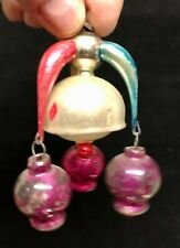 Antique Christmas Ornament - Center Mercury Glass with 3 Hanging small ornaments