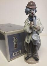 Spanish Porcelain Lladro Figure Sad Sax #5471 w/ Original Box