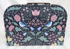 Jardín De Medianoche/Caja de almacenamiento de información de William Morris estilo maleta-Medio-Nuevo