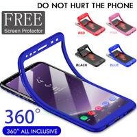 For Samsung Galaxy S9 S8 New Hybrid 360° Slim TPU case Cover & Screen Protector