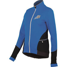 Women's Mearesy Cycling Long Sleeve Jersey in Blue. Made in Italy by Santini