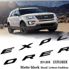 2011-2018 Explorer Ford Sport Matte black Hood Emblem Letters Decal New