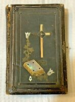 Antique 1890 German Lutheran Holy Bible Gilded Printed in Germany