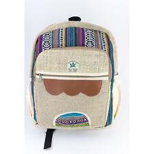 Eco Friendly Hemp Backpack  Himalayan Hemp Bag for School, Gym, Festival, Travel