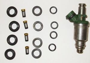 Geo Toyota 1.6L Fuel Injector Repair Service Kit Seals Filters Grommets O-rings