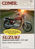 1977-1987 CLYMER SUZUKI MOTORCYCLE GS400-450 CHAIN DRIVE SERVICE MANUAL  M372