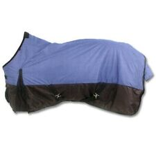 Quality Fitted Cordura Waterproof Turnout Horse Rug in 2 Tone Blue