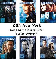 36 DVDs * CSI : NY - NEW YORK - STAFFEL / SEASON 1 - 6 IM SET  # NEU OVP